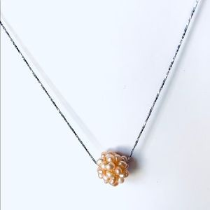 Freshwater Pearl Cluster Ball Necklace